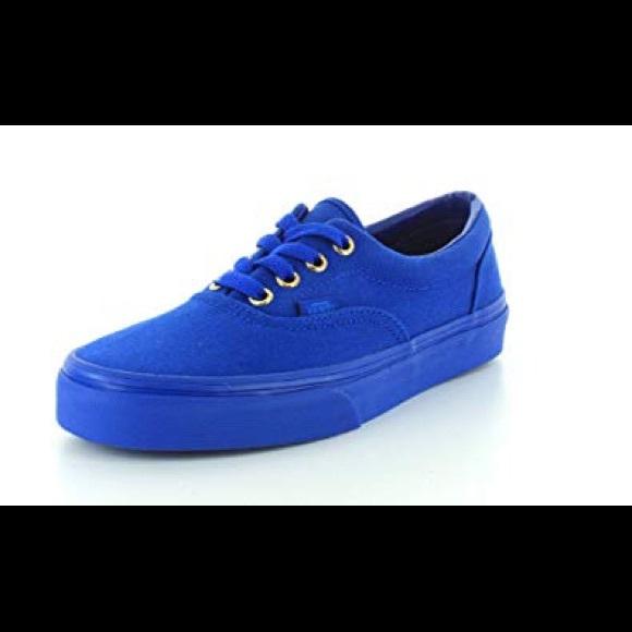 8f638587d51ebe Unisex Vans Mono Era Gold Nautical Blue Shoes